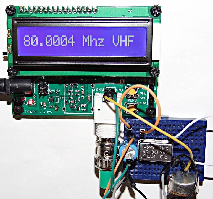 Test d'un crystal de 80 Mhz.