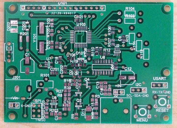 Freq_LF_HF first prototype PCB