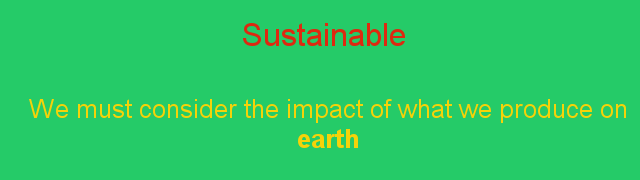 A sustainable project
