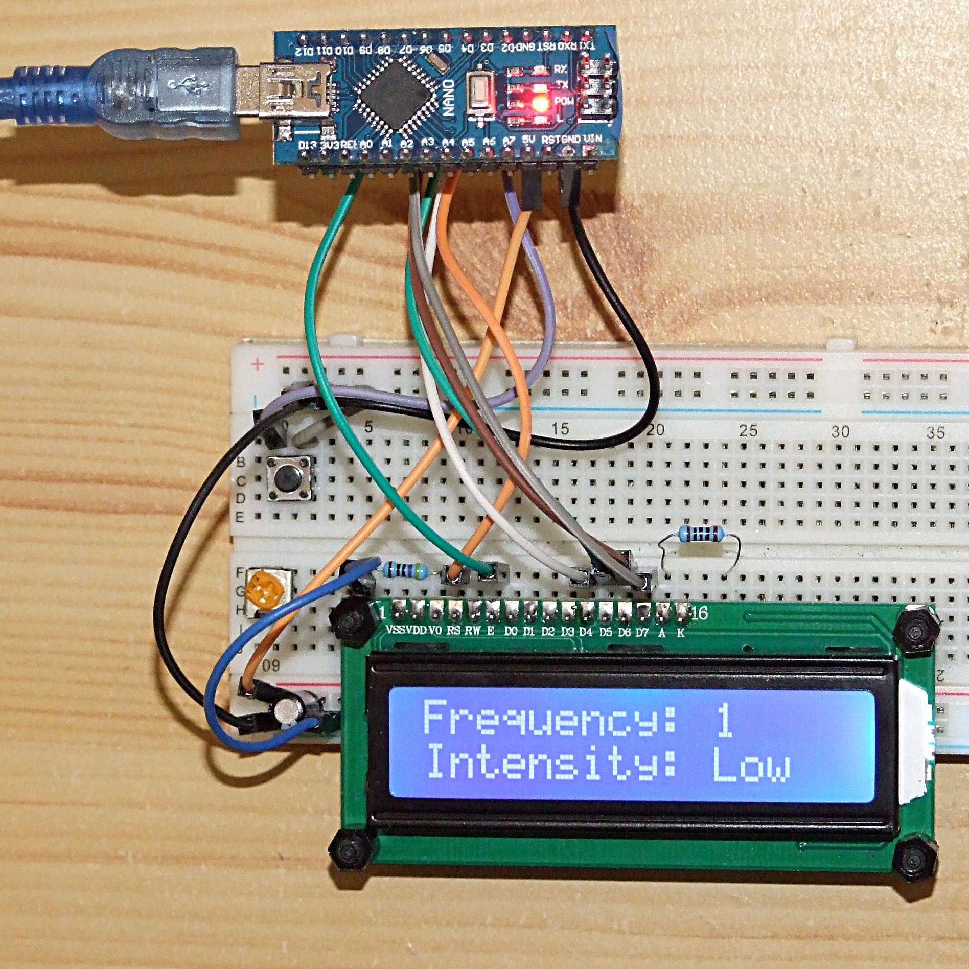 One button menu for Arduino